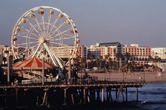 a cool pic of the Santa Monica Pier ~ loved me some [window] shopping in Santa Monica