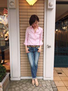 春にぴったり!スキッパーシャツ 鎌倉シャツコーデ
