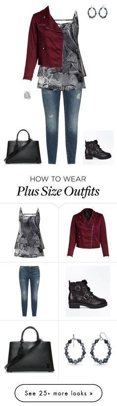 """""""Plus Size"""" by italian-girl87 on Polyvore featuring JunaRose, REBEL WILSON X ANGELS, New Look, Avenue, Louis Vuitton and plus size clothing"""