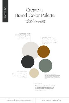Narrowing down your brand color palette so that is aligns with your brand's adjectives and values is so important for brand recognition. Colour Pallete, Colour Schemes, Neutral Color Palettes, Logo Color Combinations, Dark Color Palette, Create Color Palette, Neutral Colors, Web Minimalista, Color Psychology