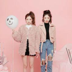 """pink faux-fur jacket """