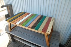 木製 キャンプ アウトドア テーブル DIY - GREEN woodworkdesign