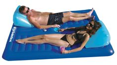Swimline Swimming Pool Inflatable Durable Floating 2 Person Air Mattress at Lowe's. When you want some quality 1 on 1 relaxation time and want to be on the water, look no further than the Swimline Swimming Pool Inflatable Durable Pool Chairs, Pool Rafts, My Pool, Pool Fun, Pool Accessories, Pool Floats, Cool Pools, Rafting, The Ordinary