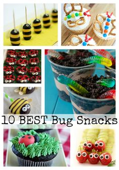 Adorable and delicious bug-themed snacks for your bug themed party! 3rd Birthday Parties, 2nd Birthday, Themed Parties, Kids Birthday Snacks, Kids Party Snacks, Birthday Ideas, Bug Snacks, Butterfly Party, Preschool Snacks
