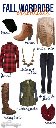 9 Fall Wardrobe Essentials...9 MUST HAVE items for your closet this Fall!!