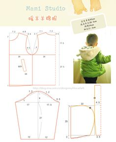 New ideas for clothes baby boy diy sewing tutorials Baby Dress Patterns, Baby Clothes Patterns, Sewing Patterns For Kids, Sewing For Kids, Baby Sewing, Baby Boy Outfits, Kids Outfits, Sewing Blouses, Studio