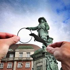 Paper Cutouts On Famous Landmarks - Statue of Niels Juel