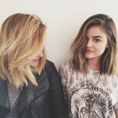Here it is again on the right (duh). | Lucy Hale Just Cut Off A Ton Of Hair