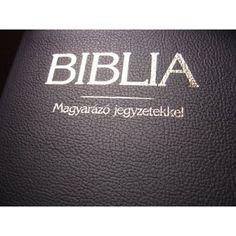 Hungarian Leather Bible with Study Notes / Magyar Biblia Magyarazo Jegyzetekkel