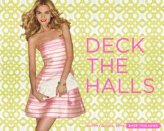 Have a pink and green Christmas thanks to Lilly Pulitzer! Loving this pink dress!!