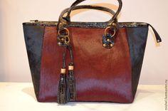 """Купить Сумка """"Бургунди"""" большая - бордовый, сумка ручной работы, сумка женская"""