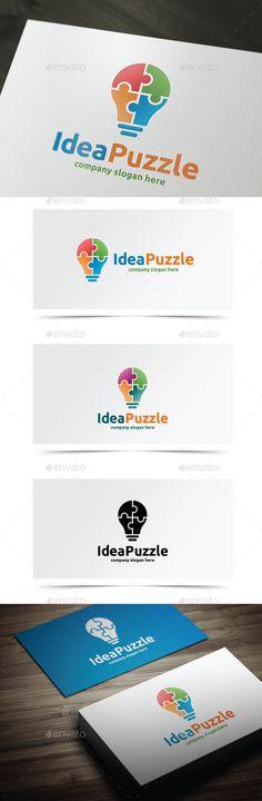 Idea Puzzle - Logo Design Template Vector #logotype Download it here: http://graphicriver.net/item/idea-puzzle/9464879?s_rank=584?ref=nesto