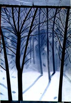 Alex Katz, January Snow, 1993, oil on canvas, 126 x 96 inches