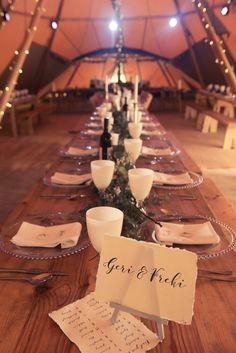 Totally Tipi wedding | Rustic edge tables  | Yorkshire #WhereHappyHappens