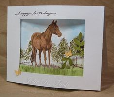 Happy Horse Birthday by reneejul1 - Cards and Paper Crafts at Splitcoaststampers