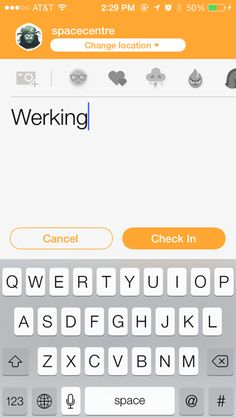 Swarm iPhone comment compose screenshot