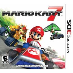 Mario Kart 7 // Nintendo ** New kart abilities add to the wild fun that the games are known for. On big jumps, a kart deploys a wing to let it glide over a track shortcut. When under water, a propeller pops out to help the kart cruise across the sea floor Nintendo Mario Kart, Jeux Nintendo 3ds, Nintendo Switch, Mario Kart Games, Donkey Kong Country Returns, Go Karts, The Legend Of Zelda, Wii U, Yoshi