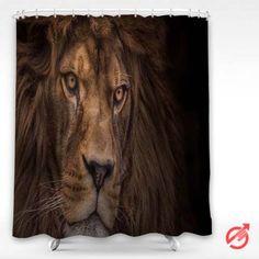 Cheap Lion Predator Shower Curtain