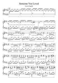 piano music Someone You Loved Piano Sheet Music Letters, Keyboard Sheet Music, Sheet Music Notes, Sheet Music Direct, Sheet Music Pdf, Music Sheets, Free Piano Sheets, Beginner Piano Music, Easy Piano Songs