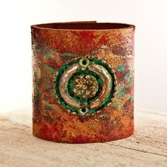 Leather Cuff Bracelet Bohemian Jewelry by rainwheel on Etsy, $105.00