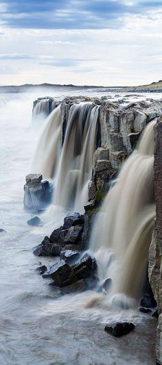 Selfoss Waterfall ~  Jokulsargljufur National Park Iceland.