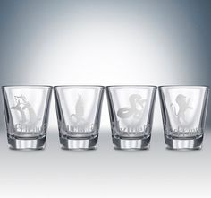 This is not a good thing for me to see with my shot glass collecting addiction and all... ~~ Harry Potter House Logos Shotglass Set