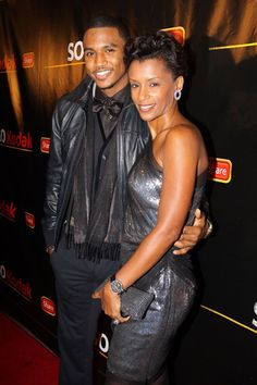 Trey Songz and his mother