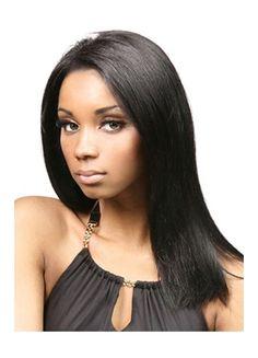 long straight human hair wig for black women
