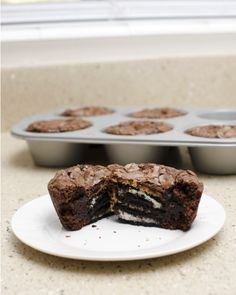 Peanut Butter + Oreo + Brownie baked in a cup. Does it get any better?