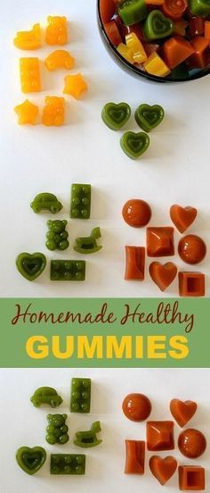 Did you know store bought gummies or fruit snacks are full of sugar, high fructose corn syrup and artificial dyes? Check out the labels! #healthy #gummies #homemade #treat #kids