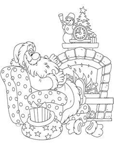 Зачарованный мир: Раскраски с Дедом Морозом, Снегурочкой и новогодней елочкой