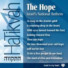 Israel's National Anthem . . Their Hope