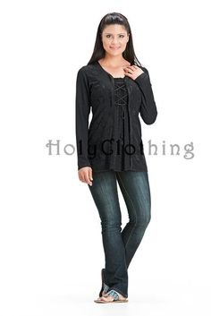 Monique Classic Gypsy Chic Embroidery Boho Flowing Blouse Tunic - Tops
