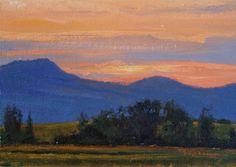 SOLD I Summer Set I 5x7 I Dix Baines I Fine Artist Original Oil Paintings I Mountains I www.dixbaines.com