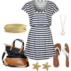 Sea Shore Approved, created by alanad23 on Polyvore