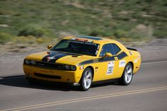 A 2010 Dodge Challenger in the 2012 Silver State Classic Challenge, sponsored by OPTIMA Batteries, Inc.