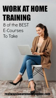 Work at Home Training - 6 of the best e-courses to take. #workathome #makemoneyonline #workathomecourses #ecourse #homebusiness #businesstraining