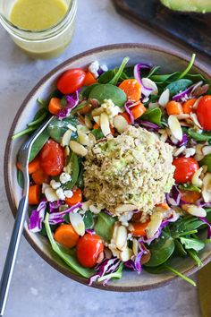 3-Ingredient Tuna Salad - a mayo-free tuna salad recipe packed with healthy fats and protein