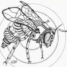 Steampunk bee by Malvadali on DeviantArt
