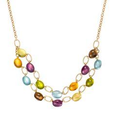 14K Yellow Gold Confetti Necklace <3