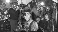 11/17/2014. David Bowie celebrates tomorrow his 50-year career as a recording artist in Paradiso, Amsterdam. In the photo: David Bowie interviewed by the press at the Amstel Hotel (in the seventies) after he received the Edison music award. ©ANP #davidbowie