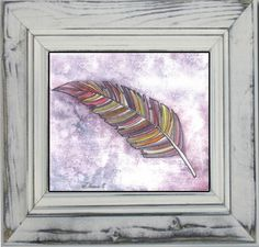Feather Watercolor Pencil Ink Drawing, Colorful ORIGINAL Illustration, Contemporary Modern Art, Wall decoration https://www.etsy.com/listing/195585581/feather-watercolor-pencil-ink-drawing?ref=shop_home_active_13