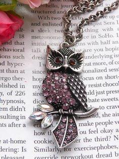 Antique retro silver owl.