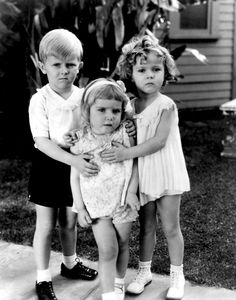 Baby Burlesk child stars, including Shirley Temple, 1933-1934.