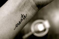 getting a tattoo #create