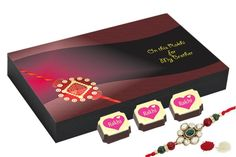 Buy rakhi online with chocolates, best gift for sister & brother. All India Shipment.Gifts for rakhi - 12 Chocolate Gift Box - Rakhi festival gifts with Rakhi Best Gift For Sister, Gifts For Brother, Buy Rakhi Online, Rakhi Festival, Rakhi For Brother, Chocolate Gift Boxes, Rakhi Gifts, Best Gifts, Packaging