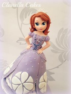 Sofia The First for Princess Lexie's Birthday – everything is edible and handcrafted from sugar! Sofia The First Cake, 4th Birthday, Birthday Cakes, Princess Party, Cupcake Cakes, Cupcakes, Amazing Cakes, Cake Pops, The One