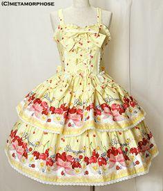 metamorphose temps de fille sweet cherry ビスチェ風ジャンパースカート