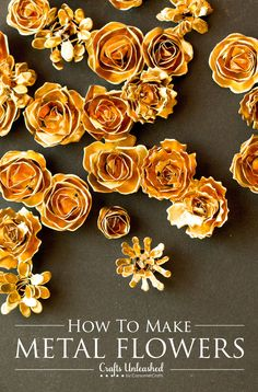 Metal Flower Tutorial: Make Your Own DIY Metal Flowers Super easy way to make small metal flower embellishments! The post Metal Flower Tutorial: Make Your Own DIY Metal Flowers appeared first on Metal Diy. Metal Flowers, Diy Flowers, Fabric Flowers, Paper Flowers, Soda Can Flowers, Metal Flower Wall Decor, Flower Diy, Aluminum Can Crafts, Metal Crafts