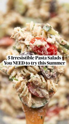 Pizza Pasta Salads, Best Pasta Salad, Pasta Dishes, Pasta Recipes, Salad Recipes, Cooking Recipes, Kfc Chicken Recipe, Chicken Bacon Ranch Pasta, Savory Salads
